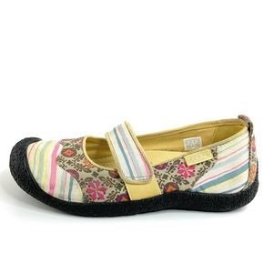 Keen Shoes - Keen Canvas Mary Janes in Harvest Floral & Stripes